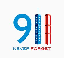 911 Never Forget - World Trade Centre with American Flag T-Shirt