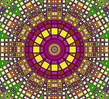 Mosaic Kaleidoscope 3 by SRowe Art