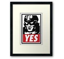 """""""YES!"""" Framed Print"""