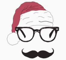 father christmas with sunglasses and moustache One Piece - Short Sleeve