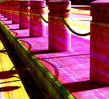 Pillars and Chains - Color Rays by SRowe Art