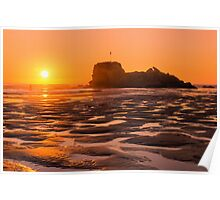Perranporth Sunset Poster