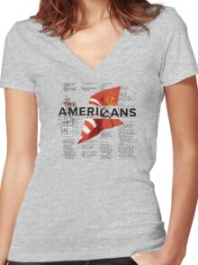 The Americans Women's Fitted V-Neck T-Shirt