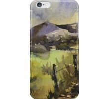 Sunrise over a winter landscape iPhone Case/Skin