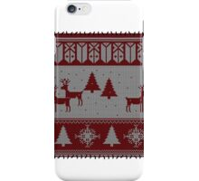 Ugly Christmas stitched sweater iPhone Case/Skin