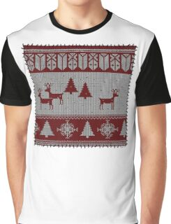 Ugly Christmas stitched sweater Graphic T-Shirt