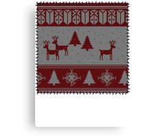 Ugly Christmas stitched sweater Canvas Print