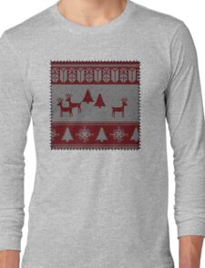 Ugly Christmas stitched sweater Long Sleeve T-Shirt