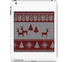 Ugly Christmas stitched sweater iPad Case/Skin