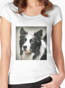 Working Border Collie Women's Fitted Scoop T-Shirt