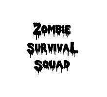Zombie Survival Squad Photographic Print