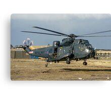 Westland Sea King HAS.5 ZA136/B-40 at RAF Stanley Canvas Print