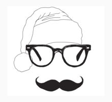 father christmas with sunglasses and moustache Baby Tee