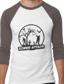 Zombie Attack! Men's Baseball ¾ T-Shirt