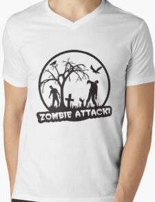 Zombie Attack! Mens V-Neck T-Shirt