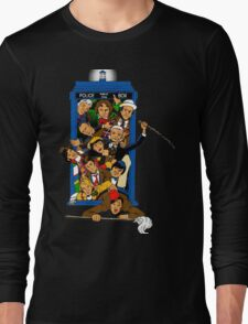 Bigger on the Inside My Bum! (Color Image) Long Sleeve T-Shirt