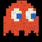 Vintage Look Arcade Pixel Ghost Man  by VintageSpirit