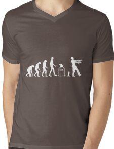Evolution Zombie Mens V-Neck T-Shirt