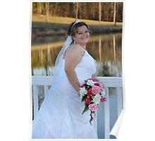 Erin, bridal portrait Poster