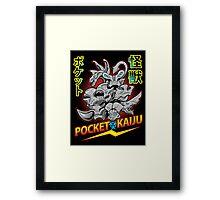 Pocket Kaijus Framed Print
