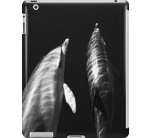 Black and white dolphins iPad Case/Skin