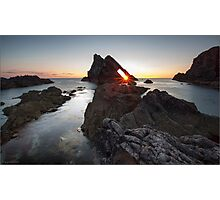 Bow Fiddle Rock Sunrise Photographic Print