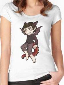 Smaug, you're smiles looks suspicious! Women's Fitted Scoop T-Shirt