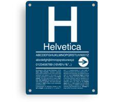 Helvetica Type Specimen Canvas Print