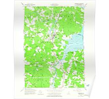 USGS TOPO Map New Hampshire NH Newmarket 329718 1956 24000 Poster