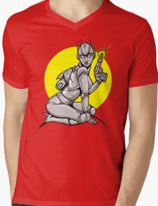 Robot Pinup Mens V-Neck T-Shirt