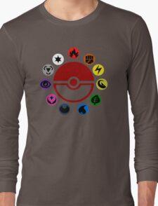 Pokemon TCG Types Long Sleeve T-Shirt