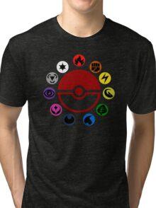Pokemon TCG Types Tri-blend T-Shirt