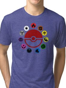 Pokemon TCG Types Tri-blend T-Shirt