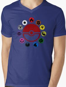 Pokemon TCG Types Mens V-Neck T-Shirt
