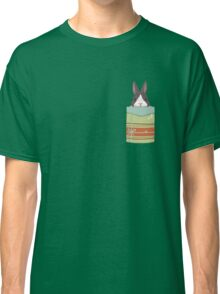 good luck with a rabbit in the pocket.. Classic T-Shirt