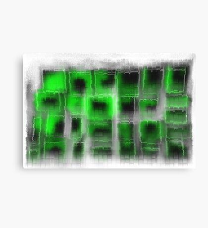 Green Tiles Canvas Print