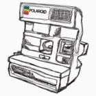 Polaroid Line Drawing Design by strayfoto