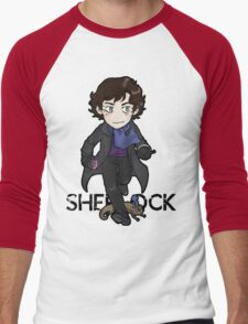 Sherlock Holmes, consulting detective and Otter with scarf. Men's Baseball ¾ T-Shirt