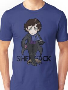 Sherlock Holmes, consulting detective and Otter with scarf. Unisex T-Shirt