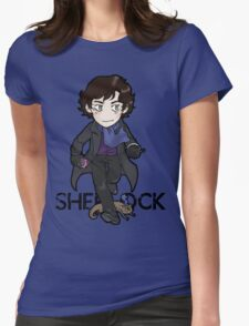 Sherlock Holmes, consulting detective and Otter with scarf. Womens Fitted T-Shirt