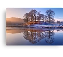 Clearing mist and reflections - River Brathay Canvas Print