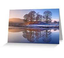 Clearing mist and reflections - River Brathay Greeting Card
