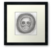 Graphite skull. Framed Print