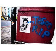 Bristol street art Poster