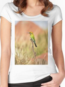 Rainbow Bee Eater 2 Women's Fitted Scoop T-Shirt