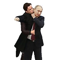 Travolta is confused by Putin Photographic Print