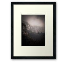Landscape Fog Framed Print