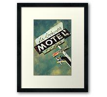 La Crescenta Vintage Motel Sign Framed Print