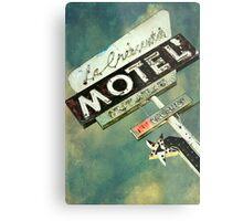 La Crescenta Vintage Motel Sign Metal Print