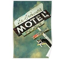 La Crescenta Vintage Motel Sign Poster